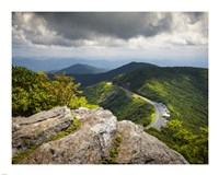 Blue Ridge Parkway Craggy Gardens Scenic Mountains Asheville NC Fine Art Print