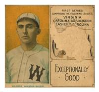 Gilmore, Winston-Salem Team, Baseball Card Portrait - various sizes