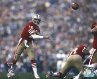 "Joe Montana Super Bowl XIX 1985 Action - 10"" x 8"""