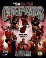 Miami Heat All Time Greats Composite Fine Art Print