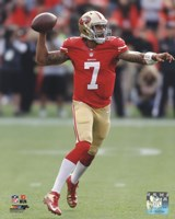 Colin Kaepernick throwing the ball 2013 Fine Art Print