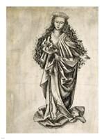 Standing Female Saint Fine Art Print