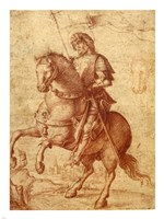 A Saint on Horseback Fine Art Print