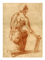 Study of a Kneeling Figure Fine Art Print