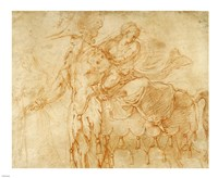 Centaur and Lapith by Francesco Primaticcio - various sizes