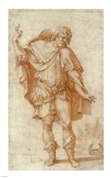 Study of a Male Figure by Rosso Fiorentino - various sizes