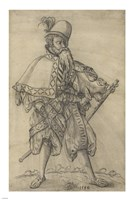 """An Officer of the Rank of """"Oberster Feldprofoss"""" in the Imperial Army Fine Art Print"""