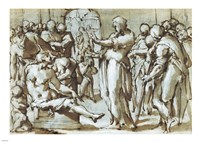 Raising of the Son of the Widow of Naim by Giovanni Battista Naldini - various sizes