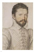 Portrait of a Bearded Man Wearing a Slashed Doublet Fine Art Print