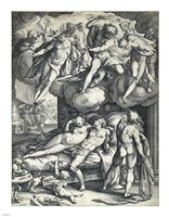 Venus and Mars Surprised by Vulcan by Hendrick Goltzius - various sizes