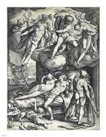 Venus and Mars Surprised by Vulcan Fine Art Print