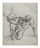 Cupid Overpowering Pan by Agostino Carracci - various sizes