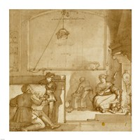 Taddeo in the House of Giovanni Piero Calabrese Fine Art Print