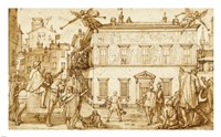 Taddeo Decorating the Facade of Palazzo Mattei Fine Art Print
