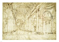 Interior of Saint Peter's Basilica Fine Art Print