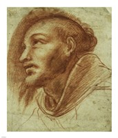 Study of a Franciscan Monk by Cerano - various sizes