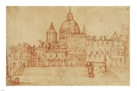 View of Saint Peter's (recto); Study of a Young Man Fine Art Print