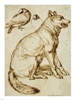 A Wolf and Two Doves by Sinibaldo Scorza - various sizes