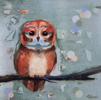 "Owl I by Ninalee Irani - 12"" x 12"""