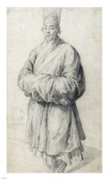 Man in Korean Costume Fine Art Print