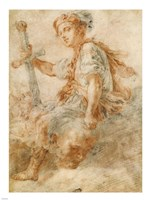 David with the Head of Goliath Fine Art Print