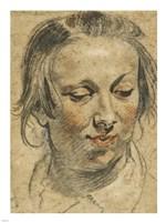 Head of a Woman Fine Art Print
