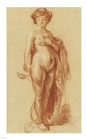 Nude Woman with a Snake Fine Art Print