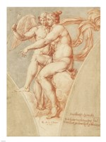 Venus and Cupid after Raphael Fine Art Print