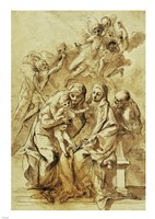 Holy Family with Saint Anne Fine Art Print