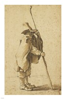 A Young Herdsman Leaning on His Houlette Fine Art Print