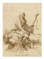 Young John the Baptist History Scene Fine Art Print