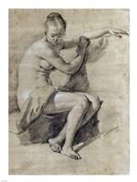 Seated Female Nude Fine Art Print