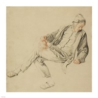A Seated Peasant Fine Art Print