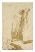 A Monk Carrying a Cross Fine Art Print
