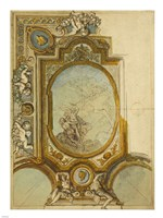 Studies for a Ceiling Decoration by Charles de La fosse - various sizes, FulcrumGallery.com brand