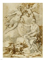 Venus Receiving from Vulcan the Arms of Aeneas Fine Art Print