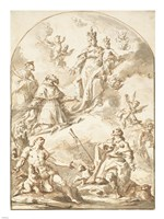 The Crowned Madonna and Child in Glory Fine Art Print