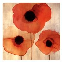 Orange Poppies I -Mini Fine Art Print