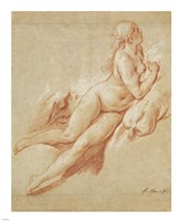 Study of a Reclining Nude by Francois Boucher - various sizes, FulcrumGallery.com brand