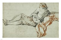Reclining Male Figure Fine Art Print