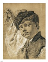 A Boy Holding a Pear by Giovanni battista Piazzetta - various sizes