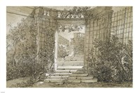 Landscape with a Stairway and Balustrade Fine Art Print