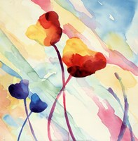 Tilt Tulips II Framed Print