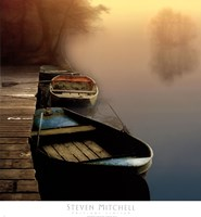 Misty Boats Fine Art Print