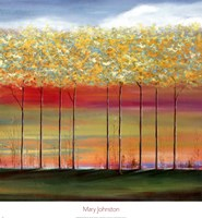 Sun Setting Through Trees Fine Art Print