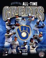 Milwaukee Brewers All Time Greats Framed Print