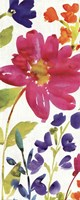 "Floral Medley Panel I by Wild Apple Portfolio - 8"" x 20"""