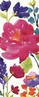 Floral Medley Panel II Framed Print
