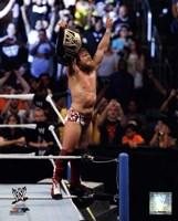 Daniel Bryan with Championship Belt 2013 Summer Slam Fine Art Print