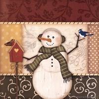 Country Snowman III Framed Print
